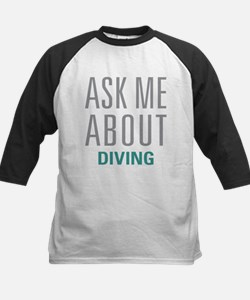 Ask Me About Diving Baseball Jersey
