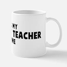 Geography Teacher costume Mug