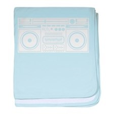 Boombox Tape Double Cassete Music Pla baby blanket