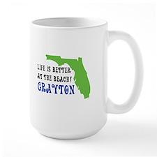 Life is better at the beach Grayton Beach Mugs