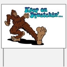 Cute Bigfoot sasquatch yeti abominable snowman skunkape Yard Sign