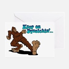 Cute Abominable snowman Greeting Card