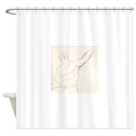 Male Torso Sketch 1 Shower Curtain