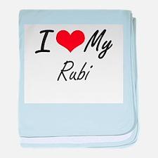 I love my Rubi baby blanket