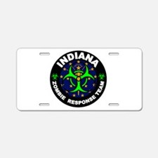 Indiana Zombie Response Tea Aluminum License Plate