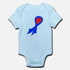 Blue Ribbon with Heart Infant Bodysuit