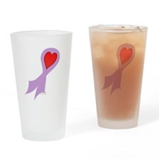 Lavender Ribbon with Heart Pint Glass