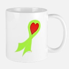 Lime Green Ribbon with Heart Mug