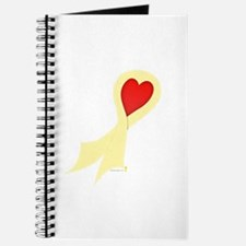 Pale Yellow Ribbon with Heart Journal