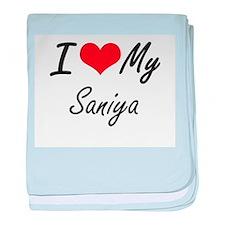 I love my Saniya baby blanket