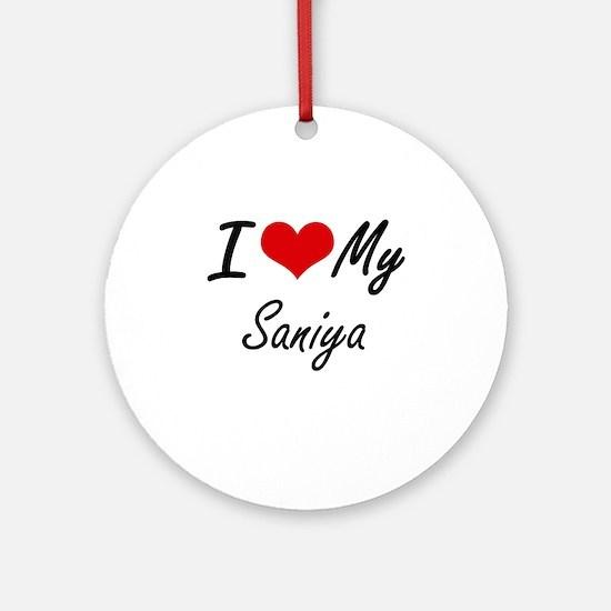 I love my Saniya Round Ornament