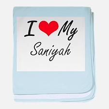 I love my Saniyah baby blanket