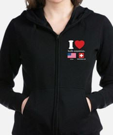USA-SWITZERLAND Women's Zip Hoodie