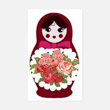 Unique Russia doll Sticker (Rectangle)
