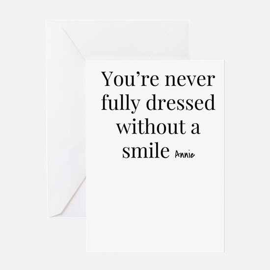 Smile - Annie Greeting Cards