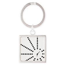 Unique Morse code Square Keychain