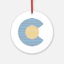 colorado circle Round Ornament