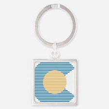 colorado circle Keychains