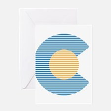 colorado circle Greeting Cards