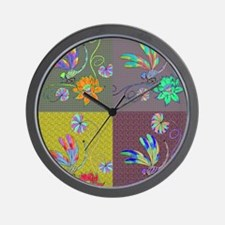 Dragonfly Collage Wall Clock