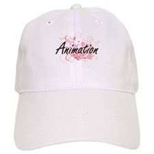 Animation Artistic Design with Flowers Baseball Baseball Cap