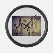 Cookies for nappy Large Wall Clock