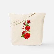 Red Dewey Rose Tote Bag