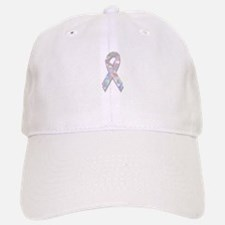 pearl lung cancer ribbon Baseball Baseball Cap