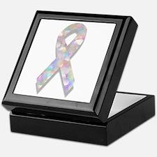 pearl lung cancer ribbon Keepsake Box