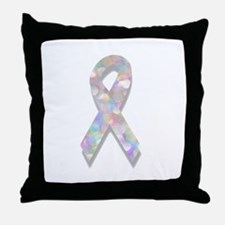 pearl lung cancer ribbon Throw Pillow