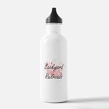 Backyard Railroads Art Water Bottle