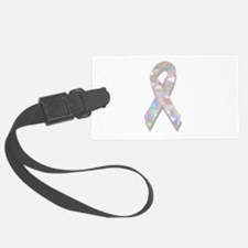 pearl lung cancer ribbon Luggage Tag