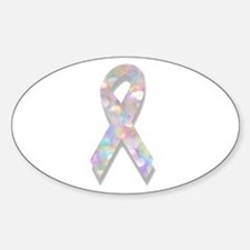pearl lung cancer ribbon Decal