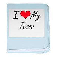 I love my Tessa baby blanket