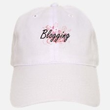 Blogging Artistic Design with Flowers Baseball Baseball Cap