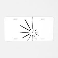 Morse Code Clock SOS! Radio Aluminum License Plate