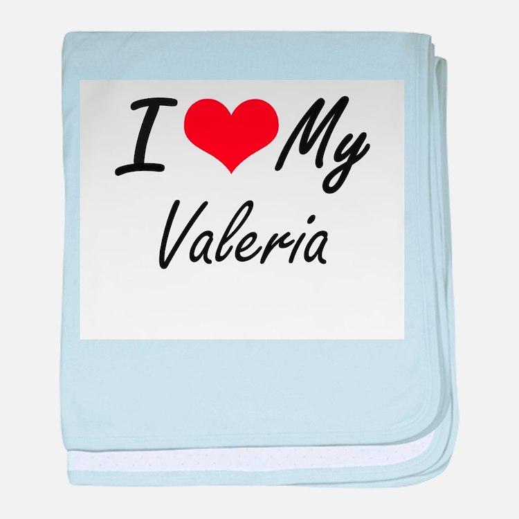 I love my Valeria baby blanket
