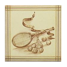 Vintage Tennis Tile Coaster