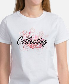 Collecting Artistic Design with Flowers T-Shirt