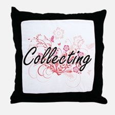 Collecting Artistic Design with Flowe Throw Pillow