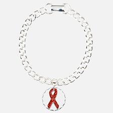 glitter red ribbon Bracelet