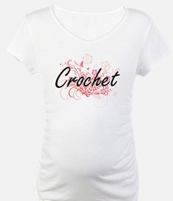Crochet Artistic Design with Flo Shirt
