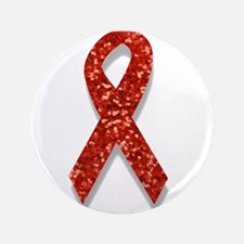 """glitter red ribbon 3.5"""" Button (100 pack)"""
