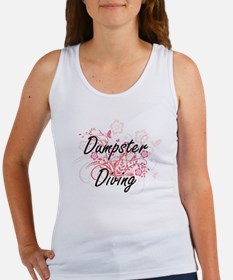 Dumpster Diving Artistic Design with Flow Tank Top