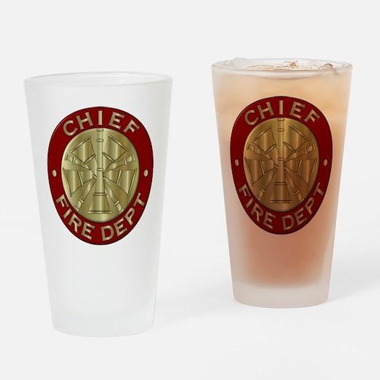 Fire chief brass sybol Drinking Glass