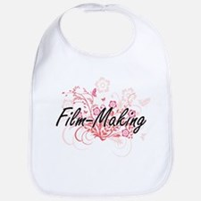 Film-Making Artistic Design with Flowers Bib