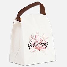 Cute I love geocaching Canvas Lunch Bag