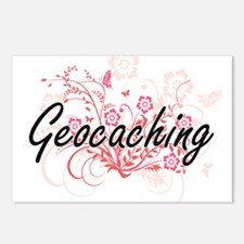 Geocaching Artistic Desig Postcards (Package of 8)