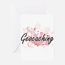 Geocaching Artistic Design with Flo Greeting Cards