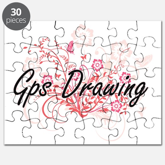 Gps Drawing Artistic Design with Flowers Puzzle